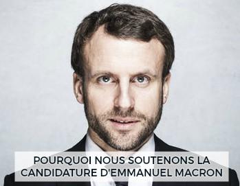 Pourquoi nous soutenons la candidature de Macron