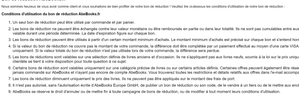 code réduction abebooks
