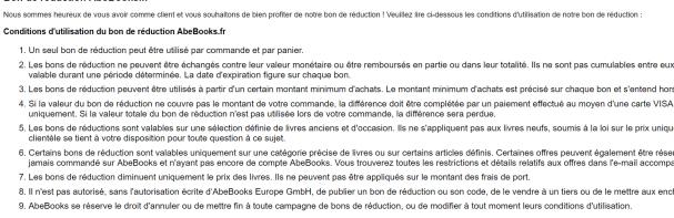 code réduction abebooks