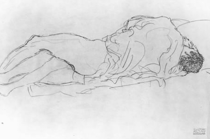Couple d'amoureux, Klimt, 1914