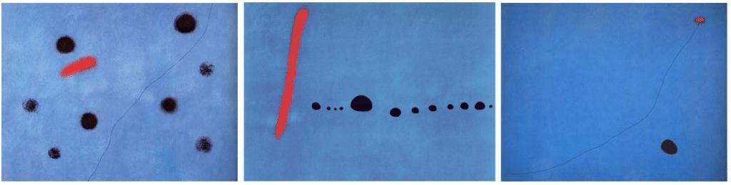 Miro : Bleu I II III