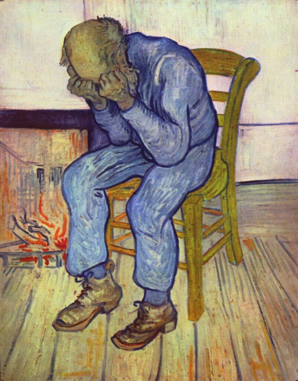 Van Gogh - Vieil homme en pleurs - 1890