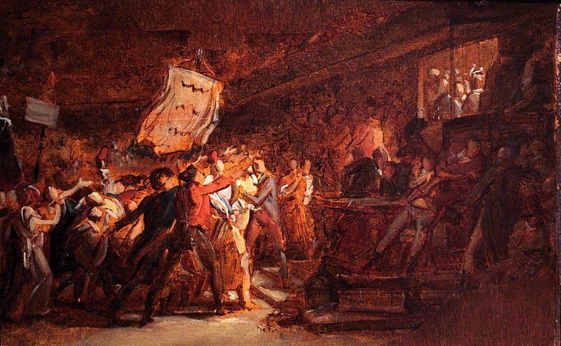 Le peuple français demandant la destitution du tyran (François Gérard, 1792)