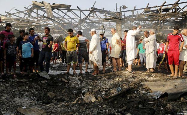 Attaque suicide sur un marché de Badgad en Irak en 2014